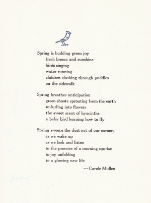 12 1 Spring Poem Short Spring Poems