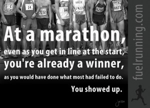 Fitness Stuff #97: At a marathon, even as you get in line at the start ...