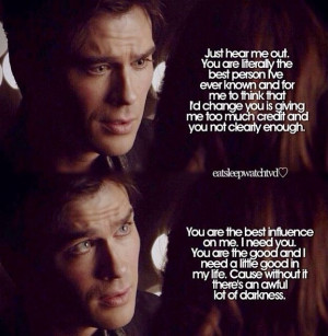 Damon Salvatore speeches makes my heart melt:)