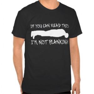 Planking Funny Shirt