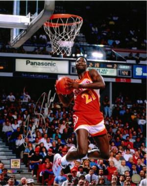Dominique Wilkins Autographed Atlanta Hawks 16x20 Photo 3 High