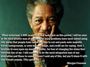 True Facts About Morgan Freeman? Lord Throckmorton Fungusleaves Helps ...