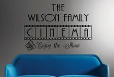Family Cinema-Vinyl Wall Decal Personalized Wall Quotes Movie Room ...