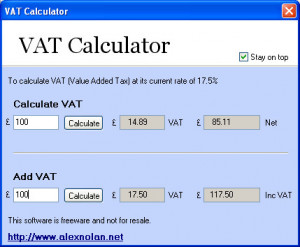 VAT (Value Added Tax) Calculator: simply the process of calculating ...