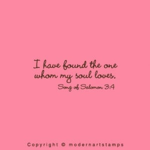 Love Bible Verse Wedding Rubber Stamp - A111 - I have found the one...