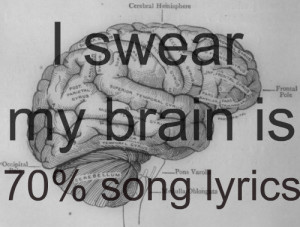 brain, brain song lyrics, funny, graphic, lyric, lyrics, message ...