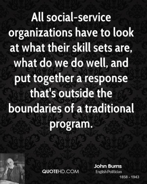 All social-service organizations have to look at what their skill sets ...