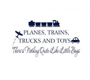 Boy Wall Decals Planes Trains Trucks and Toys by wallartsy