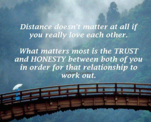 doesn't matter at all if you really love each other. What matters ...