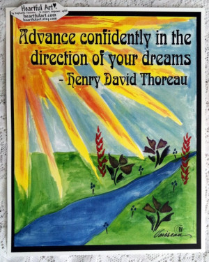 Advance Confidently THOREAU Inspirational Quote Motivational Print ...