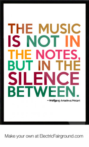 Wolfgang Amadeus Mozart Framed Quote