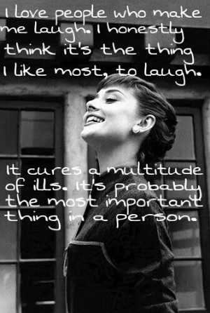 Audrey Hepburn Quotes Laugh Laughter quotes