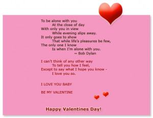 Romantic Valentines Day Poem Ecard