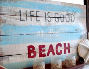 DIY Art with Sayings & Quotes Inspired by Ocean, Sea and Beach