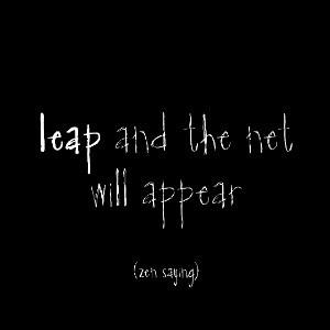 Leap Zen Saying Magnet