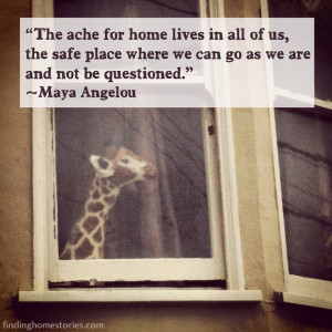 Maya Angelou quote about home. #home #inspirationalquote