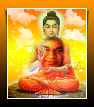 Download Buddha -Sai Baba Vibrations Screen Saver