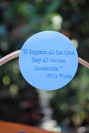 Blueberries, Gobstoppers & Quotable Willy Wonka Favors