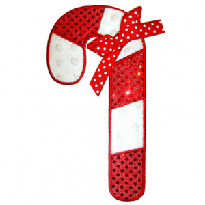 Home See It All Cute Candy Cane Applique