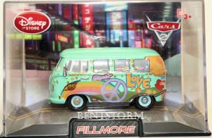 Details about Disney Store CARS 2 FILLMORE Diecast VW BUS & Case NEW