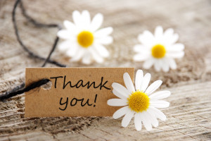 Thank You Cute Flowers Wallpaper Image