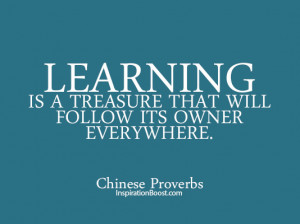 Learning Quotes – Chinese Proverbs