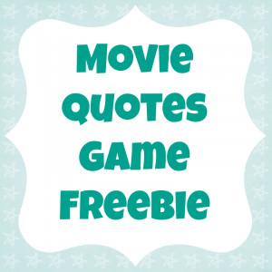 Fun Movie Quotes Game freebie