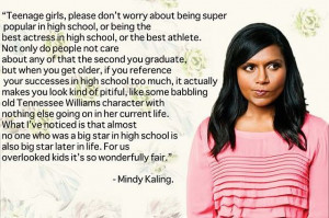 Being Super Poplular In High School, or Being The Best Actress In High ...