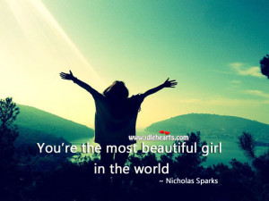 IdleHearts / Quotes / Beauty Quotes / The Most Beautiful Girl In The ...