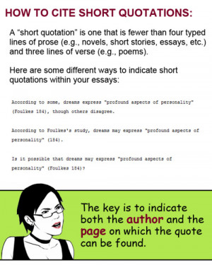 how to cite quotations both short and long in your essays