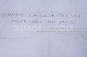 Martin Luther King Jr. Quote remains carved in stone