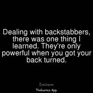 Eminem on backstabbers