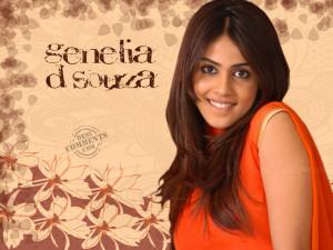 genelia d souza cute 1080p wallpaper
