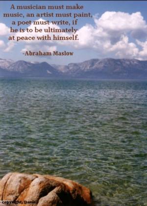 Maslow quote.