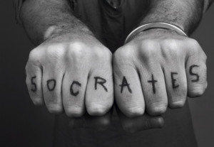But my favourite Socrates tattoo is this guy. He'll give you a ...