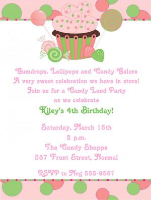 Sweet Treats Birthday Party Invitations