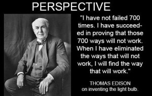 Thomas Edison Light Bulb Quote