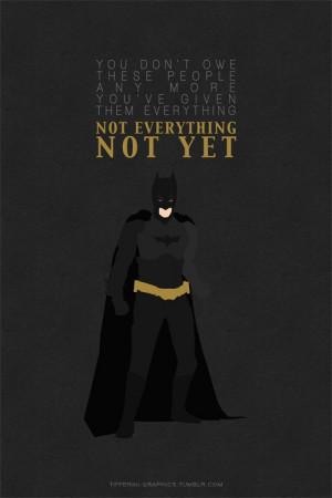 Batman Quotes Tumblr Epic batman quote #3 for 3rd