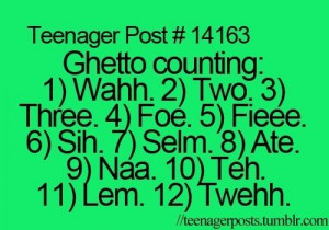 Ghetto Quotes Funny Ghetto counting. hahaha why is