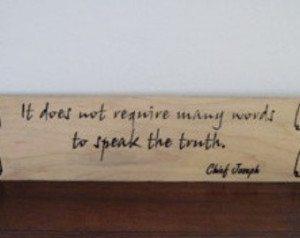 Handmade Wood Carved Sign Native American Indian Chief Joseph Quote ...