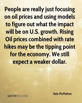 Aziz McMahon - People are really just focusing on oil prices and using ...