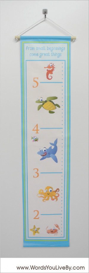 Under the Sea Animals Simple Sayings Growth Chart