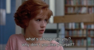 movie quote, quote, the breakfast club, molly ringwald. qif