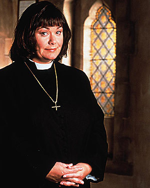 Dawn French in The Vicar of Dibley.