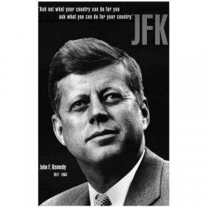 John F Kennedy - JFK - Ask Not Quote 11x17 Poster