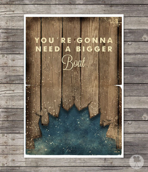 Jaws Movie Poster Quotes Steven Spielberg - Vintage Style Magazine ...