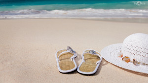 Beach holiday on a beach in summer HD wallpaper. Click on image to ...