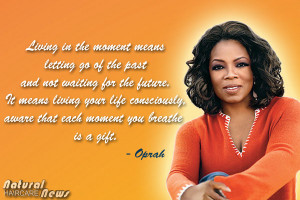 Oprah Winfrey on Living Life Consciously