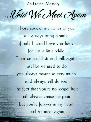 Until We Meet Again Poem