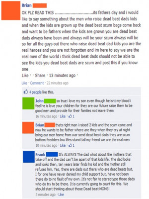 Deadbeat Dad Quotes For Facebook Deadbeat dads (